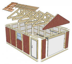 Byggsats hus i mindre modell